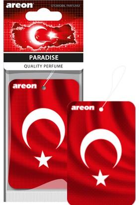 Areon Türk Bayrağı Paradise (Cennet Kokusu) Oto Kokusu