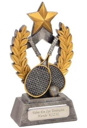 Tkn İsme Özel Tenis Temalı Dekoratif Biblo ve Ödül