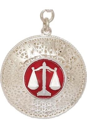 Ninova Silver Adalet Bakanlığı Terazi Logolu İsimli Gümüş Telkari Anahtarlık