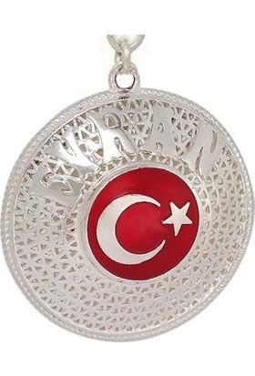 Ninova Silver Ayyıldız Logolu Ve İsimli Telkari Gümüş Anahtarlık
