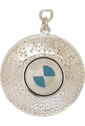 Ninova Silver Bmw Amblemli Gümüş İsimli Telkari Anahtarlık