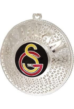 Ninova Silver Galatasaray Logolu Ve İsimli Telkari Gümüş Anahtarlık