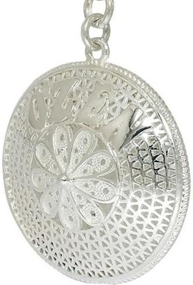 Ninova Silver Midyat Gümüş İsimli Telkari Anahtarlık