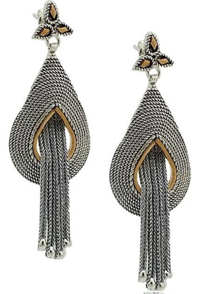 Ninova Silver Cgr189 Gümüş Telkari Püsküllü Bayan Küpe