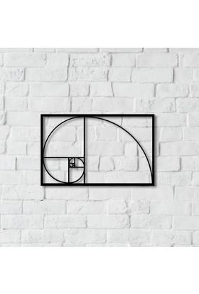 Dnz Fibonacci Metal Duvar Süsü
