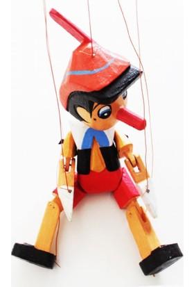 Gökçe Büyük Boy Ahşap Pinokyo İpli Kukla 55 Cm