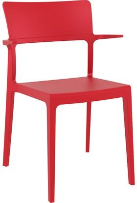 Siesta Bahçe Mobilyası Sandalye Kırmızı
