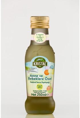 Kristal Anne Ve Bebeklere Özel Natürel Sızma Zeytinyağı 250 ml (Cam)