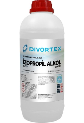 Divortex Ipa Izopropil Alkol C3H70H (% 99.9 Saflık) 1 LT.