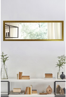 Tablo Center 37x97cm Altın Varak Çerçeveli Yatay Ayna