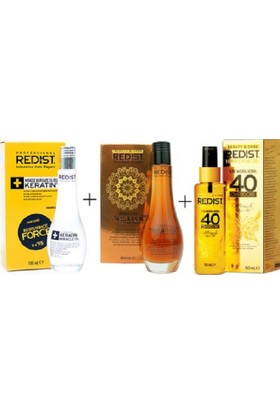 Redist Keratin Yağı 100ml.+Argan Yağı 100ml. + 40 Yağ 150ml. SET