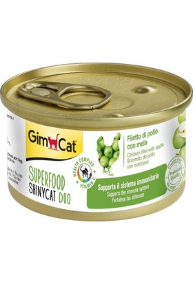 Gimcat Shinycat Tavuklu Elmalı Kedi Konserve 70 gr