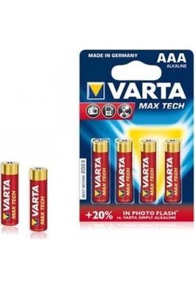Varta Max Tech Yüksek Performans Alkalin Seri İnce Pil - AAA 4'lü 4703101404