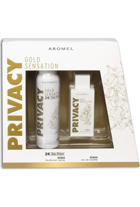 Privacy Women Gold Sensation EDT Kadın Parfüm 100 ml & 150 ml Deodorant Set
