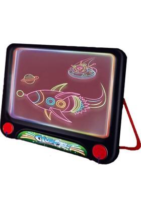 Glow Akıllı Çizim Tahtası Oyun Tahtası Ve 4 Farklı Neon Kalem