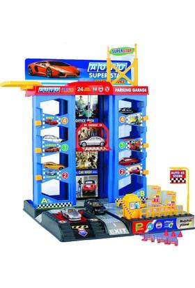 Toys Lüks 4 Katlı Garaj Otopark Oyun Seti Çok Fonksiynlu Set 2