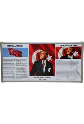 Feyza Milli Levha 3'Lü Alüminyum Çerçeve 50 x 100 cm