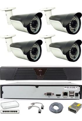 Sapp 4 Kameralı 1Mp IP Güvenlik Kamera Sistemi - 201