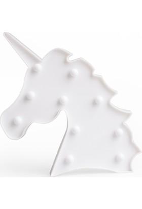 Petrix Fs-Ms18 Unicorn Led Işıklı Dekoratif Aydınlatma Beyaz