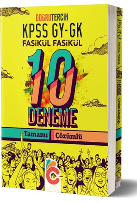 Doğru Tercih Yayınları 2018 Kpss Gygk Fasikül Fasikül Çözümlü 10 Deneme