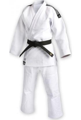 Adidas Beyaz Unisex Slim Fit Judo Elbisesi J930S