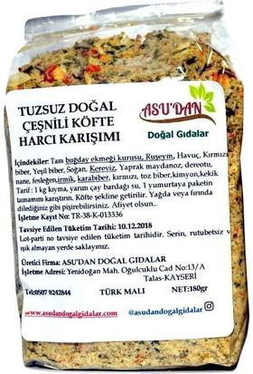 Asudan Tuzsuz Doğal Çeşnili Köfte Harcı 180 gr