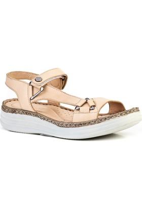 Cabani Günlük Kadın Sandalet Pudra