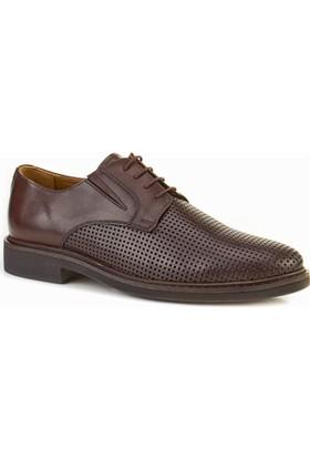 Cabani Lazerli Oxford Günlük Erkek Ayakkabı Kahve Flap