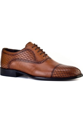 Cabani Oxford Günlük Erkek Ayakkabı Taba Antik