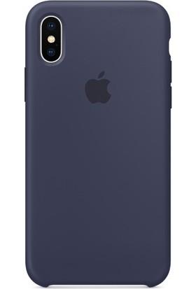 Graytiger Apple iPhone X Gece Mavisi Silikon Kılıf Kauçuk Arka Kapak