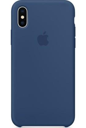 Graytiger Apple iPhone X Kobalt Mavi Silikon Kılıf Kauçuk Arka Kapak
