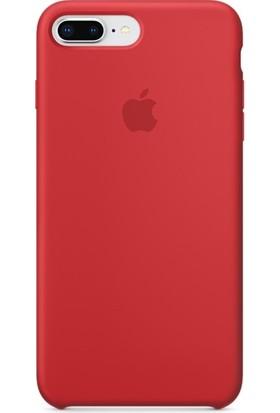Graytiger Apple iPhone 8 Plus Kırmızı Silikon Kılıf Kauçuk Arka Kapak