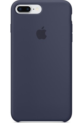 Graytiger Apple iPhone 8 Plus Gece Mavisi Silikon Kılıf Kauçuk Arka Kapak