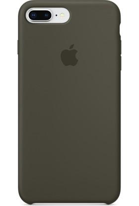 Graytiger Apple iPhone 8 Plus Zeytin Yeşili Silikon Kılıf Kauçuk Arka Kapak