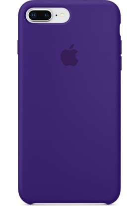 Graytiger Apple iPhone 8 Plus Mor Silikon Kılıf Kauçuk Arka Kapak