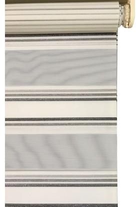 Evrem SD00280 0004 Gri Zebra Perde