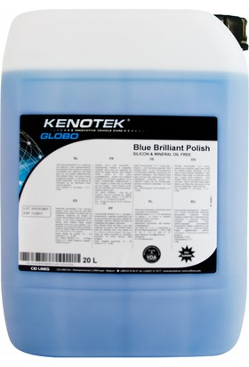 Blue Brillant Polish Sıvı Yüksek Konsantre Hızlı Cila 5 Lt