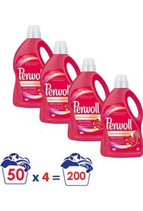 Perwoll Yenilenen Renkler Hassas Çamaşır Deterjanı 3 lt 4'lü Set