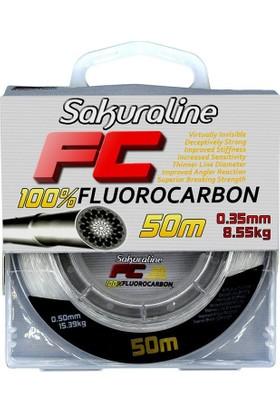 Sakuraline FC %100 Fluorocarbon Misina 50m