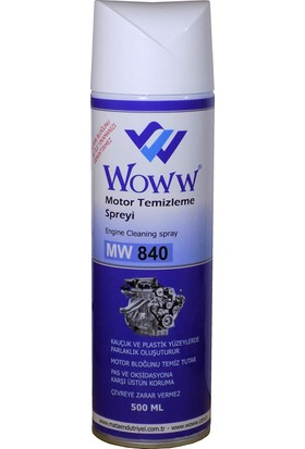 Woww Motor Temizleyici Spreyi 500 ml (Motor Bloğunu Su İle Yıkamanızı Gerektirmez)