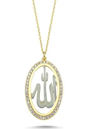 Sembolgold Altın (Allah) Taşlı Kolye Sg42-6329