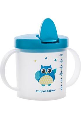 Canpol Babies Katlanır Ağızlıklı Alıştırma Bardağı Blue Owl 2. Bardak 9+ Ay