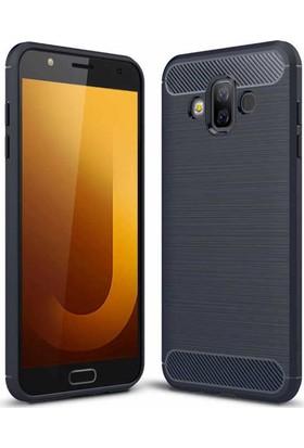 Case 4U Samsung Galaxy J7 Duo Kılıf Darbeye Dayanıklı Room Sert Silikon Arka Kapak - Lacivert