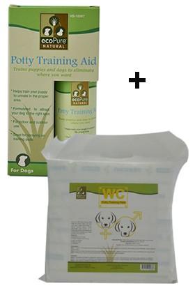 Ecopure Poty Trainig Aid Çiş Eğitim Damlası + Wc Poty Trainig Pad Çiş Eğitim Pedi