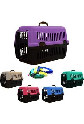 Petfony Kedi Taşıma Çantası 50x33x33 cm ve Kadife Zilli Kedi Tasması