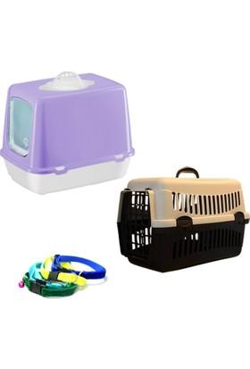Petfony Kapalı Kedi Tuvaleti ve Kürek, Kedi Taşıma Çantası, Kedi Tasması