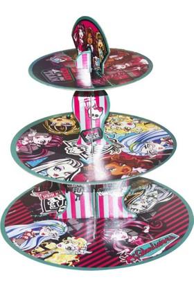 Tahtakale Toptancısı 3 Katlı Karton Cupcake Standı Monster High Temalı Kek Standı