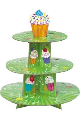 Tahtakale Toptancısı 3 Katlı Karton Cupcake Standı Party Kek Standı