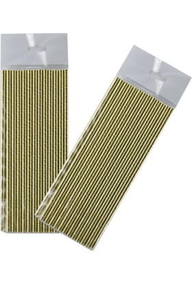 Tahtakale Toptancısı Altın Renkli Kağıt Pipet (25 Adet)