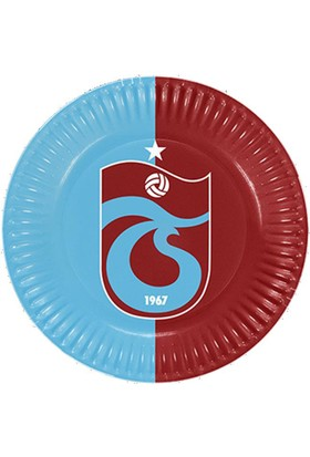 Tahtakale Toptancısı Trabzonspor Temalı Taraftar Karton Tabak 23 CM (8 Adet)